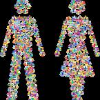 Man Vrouw gender Weegschalen