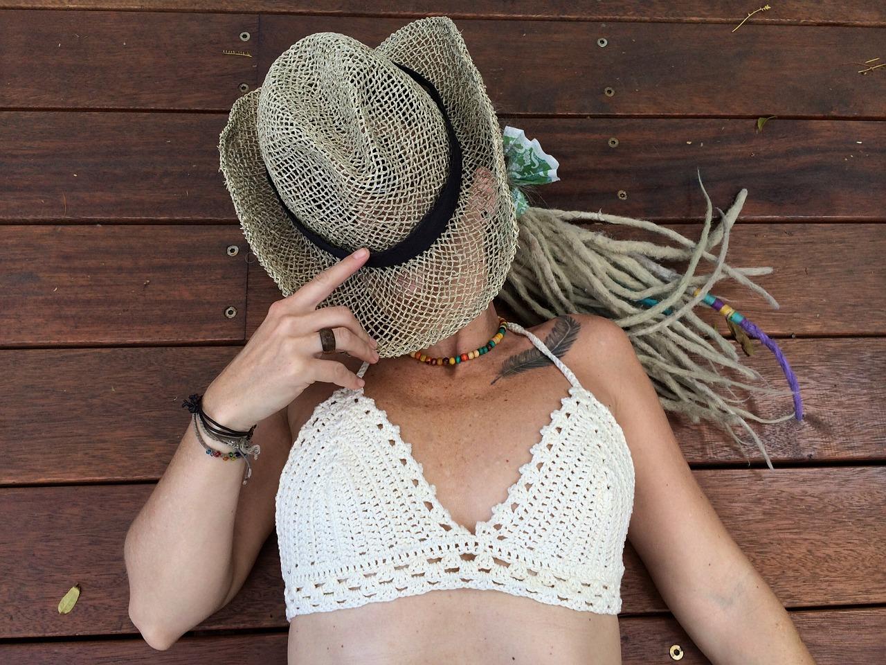 dreadlocks hoed bikini