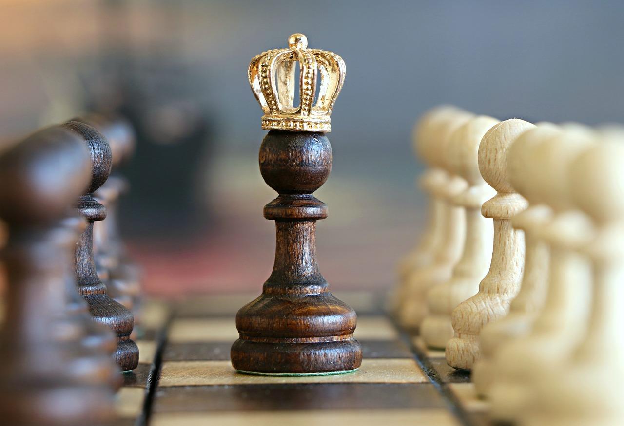 schaken pion kroon machtig