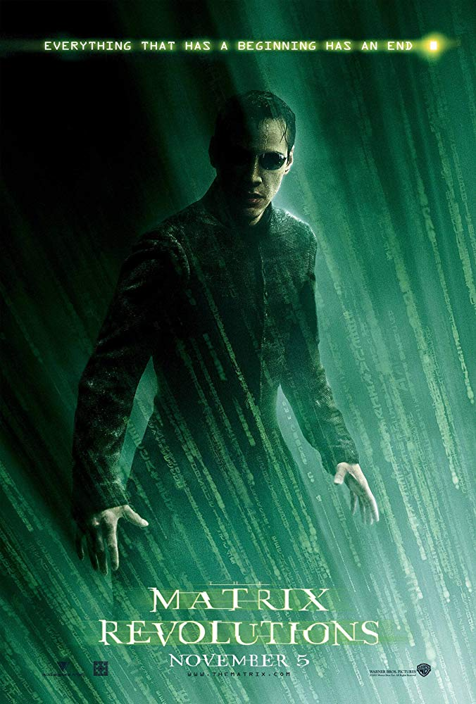 The Matrix Revolutions 2003 filmposter Keanu Reeves
