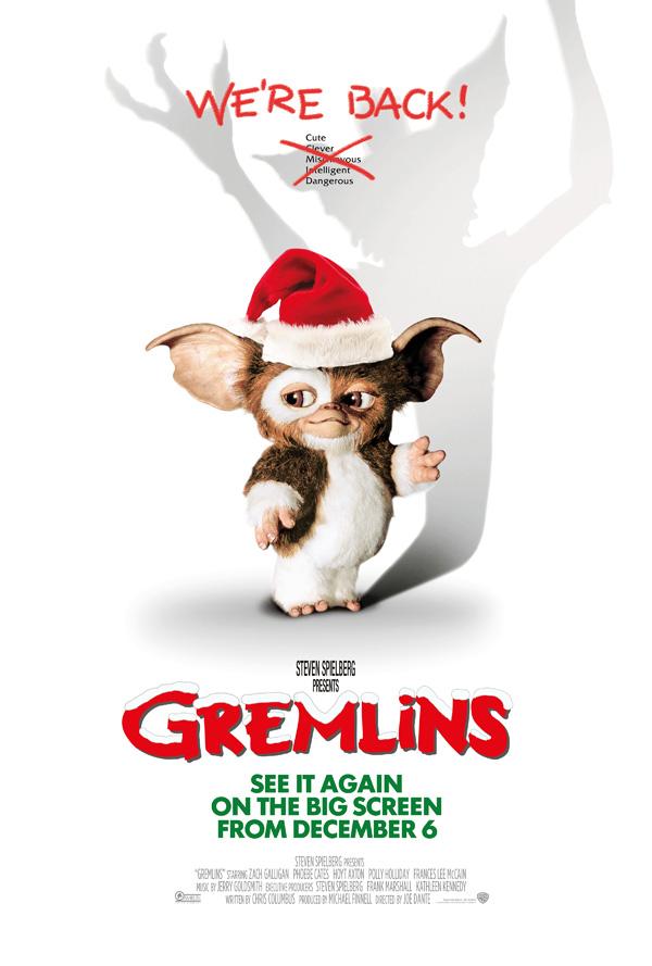 Gremlins filmposter Steven Spielberg